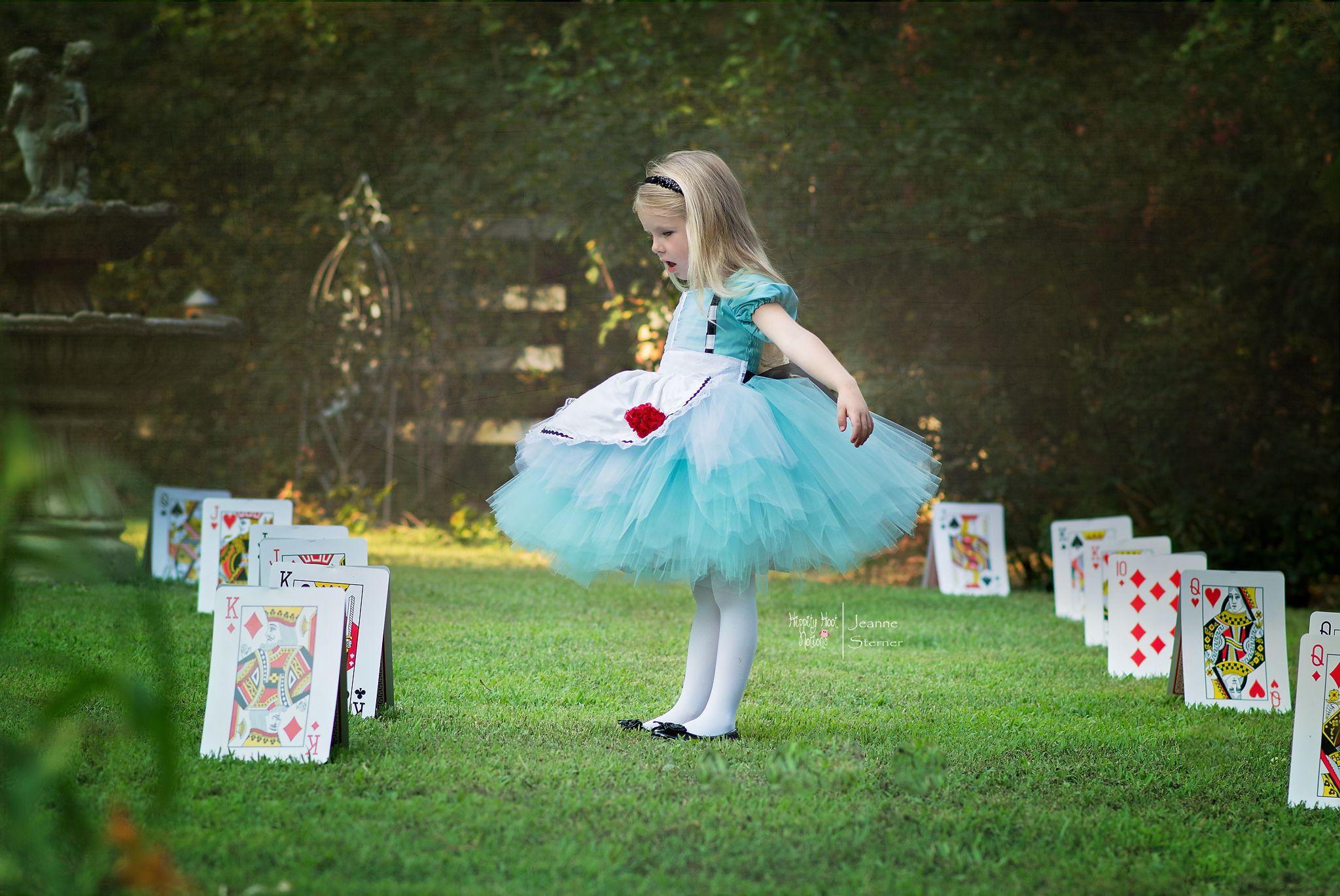 Alice Dress...Wonderland Inspired Dress..Custom Colors...Birthday Dress, Flower Girl, Photography Prop - Hippity Hoot Notions