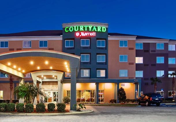 Courtyard By Marriott Tampa Oldsmar Entrance Right Off Tampa Road