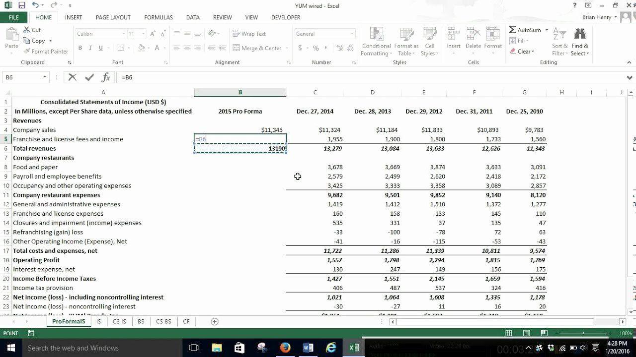 40 Pro Forma Income Statement Example Income Statement