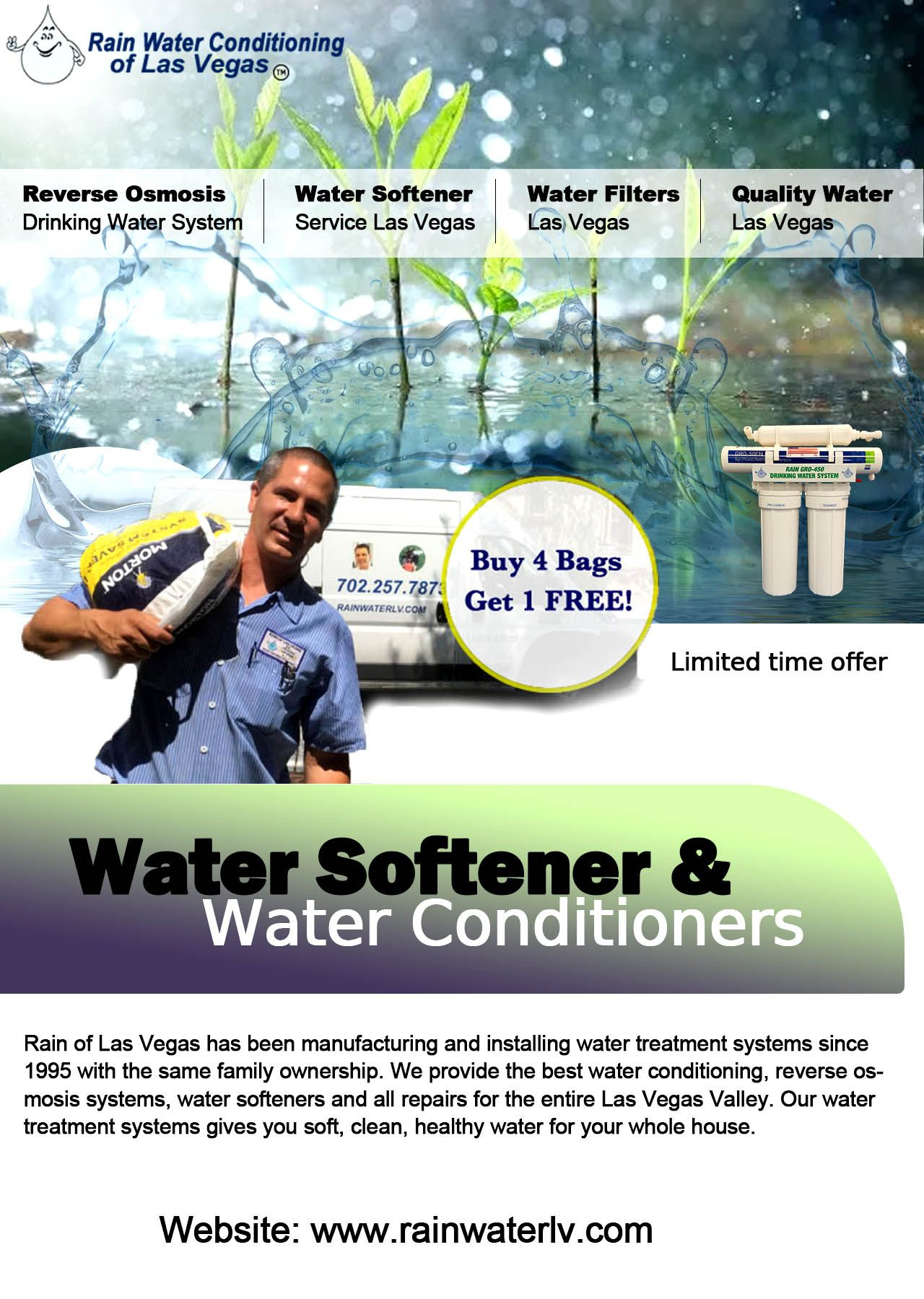 Want Freedom From The Adverse Effects Of Hard Water Then Give Rain Water Conditioning Of Las Vegas A Phone Call For Water Soften Reverse Osmosis Water Water Treatment Reverse Osmosis System