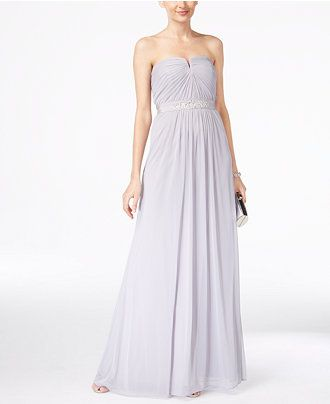 Adrianna Papell Strapless Ruched Gown - Dresses - Women - Macy's