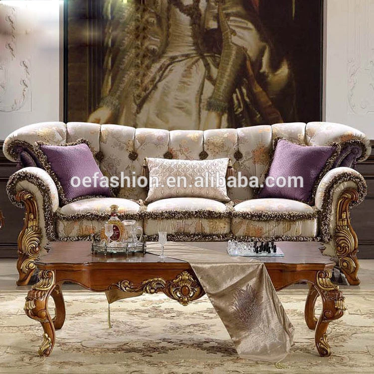 Oe Fashion European Luxury Solid Wood Carving Sofa Italian Solid Wood Fabric Sofa Combination Villa Furniture View Pictures Wood Sofa Furniture Oe Fashion Pro