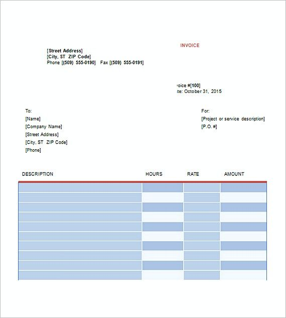 How To Make Invoice Template Create Annvoice Templaten Word