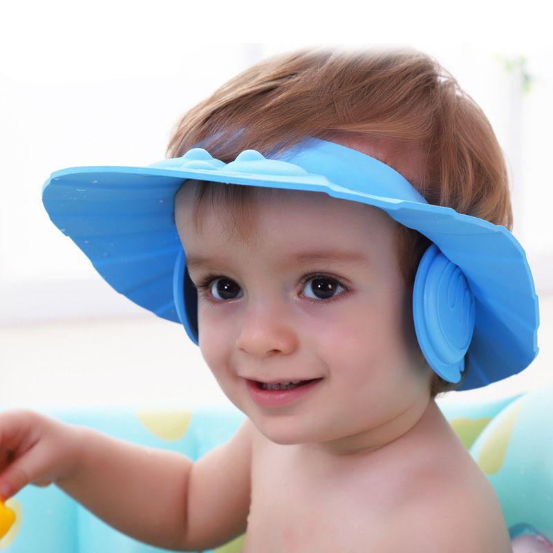Adjustable Convenient Baby Child Kids Ear Shampoo Bath Shower Cap Hat Wash Hair Baby Shower Hats Baby Shower Cap Kids Shampoo