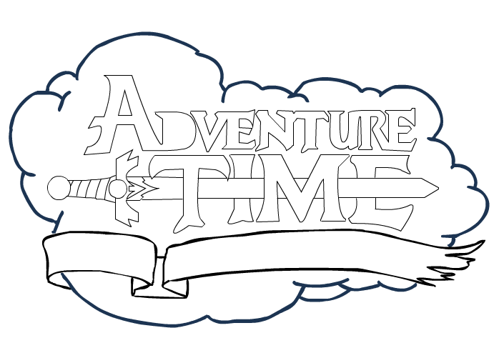 Adventure Time Logo Base By Murderingly Amazing On Deviantart Adventure Time Adventure Time Parties Adventure