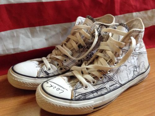 7b33a6f27a13 Limited Edition Kurt Cobain Written Lyrics and Sketches Converse. It sadly  doesn t say