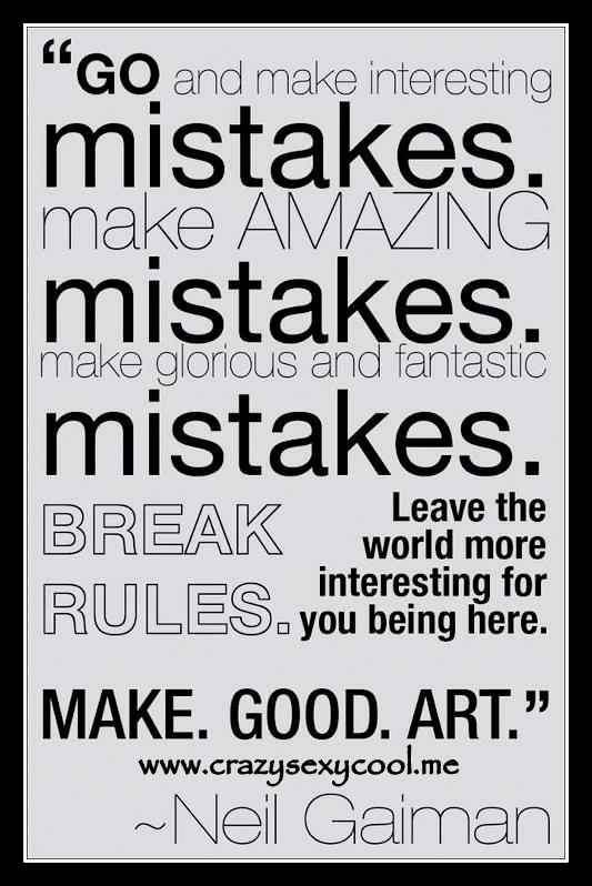 mistakes ;-)