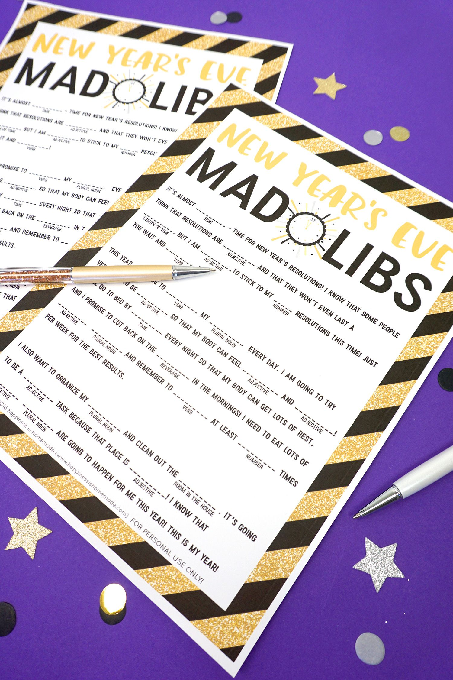This Fun Free New Year S Eve Mad Libs Printable Is Perfect