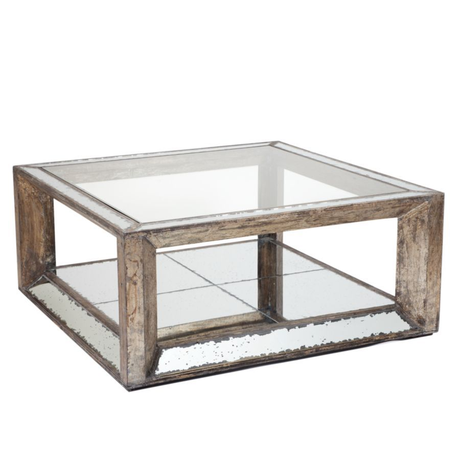 Pascual Mirrored Coffee Table By Z Gallerie Mirrored