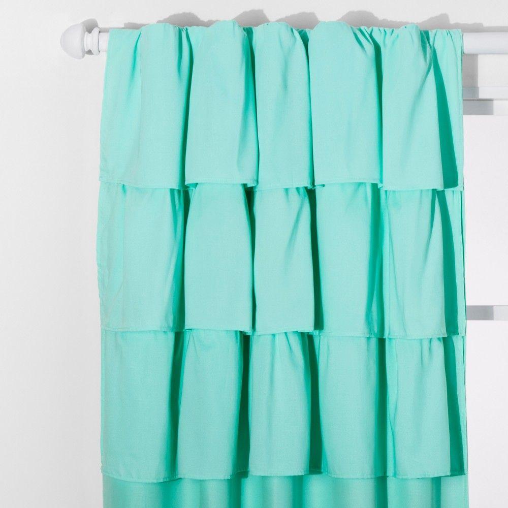Ruffle Blackout Curtain Panel White 42 X84 Pillowfort White