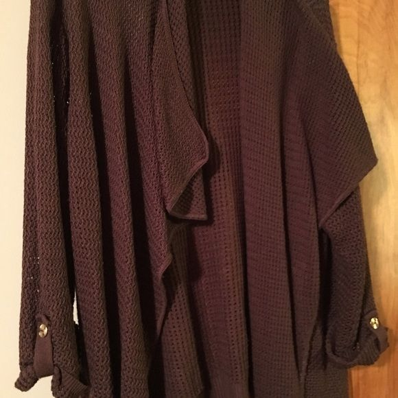 Brown flyaway cardigan. Only worn a couple of times. Great ...
