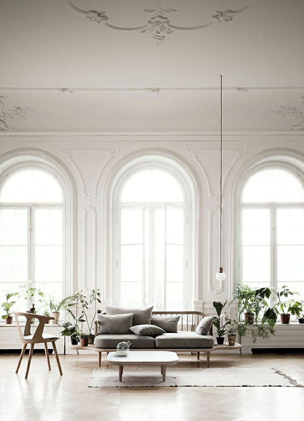 White Interiors white, home, interior, industrial, inspiration, bedroom, living