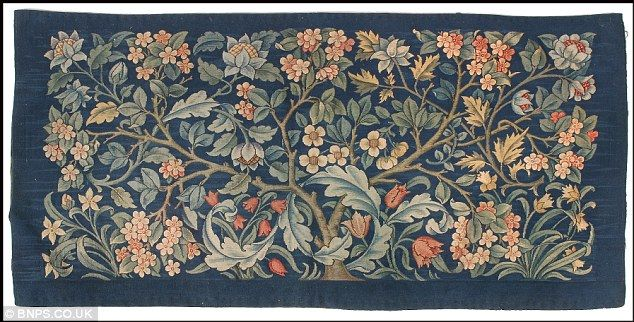 An exquisite hand-knotted carpet made by Morris & Co in 1916,