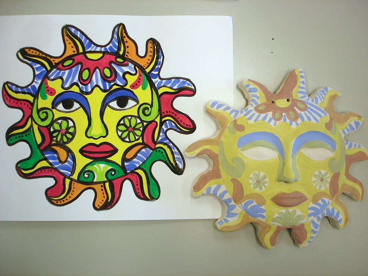 Arteascuola Mexican Sun In The Manner Of St Phalle