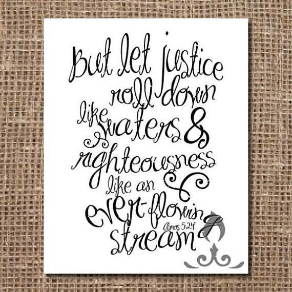 Scripture Print Let Justice Roll Down Scripture Print Scripture Scripture Journaling