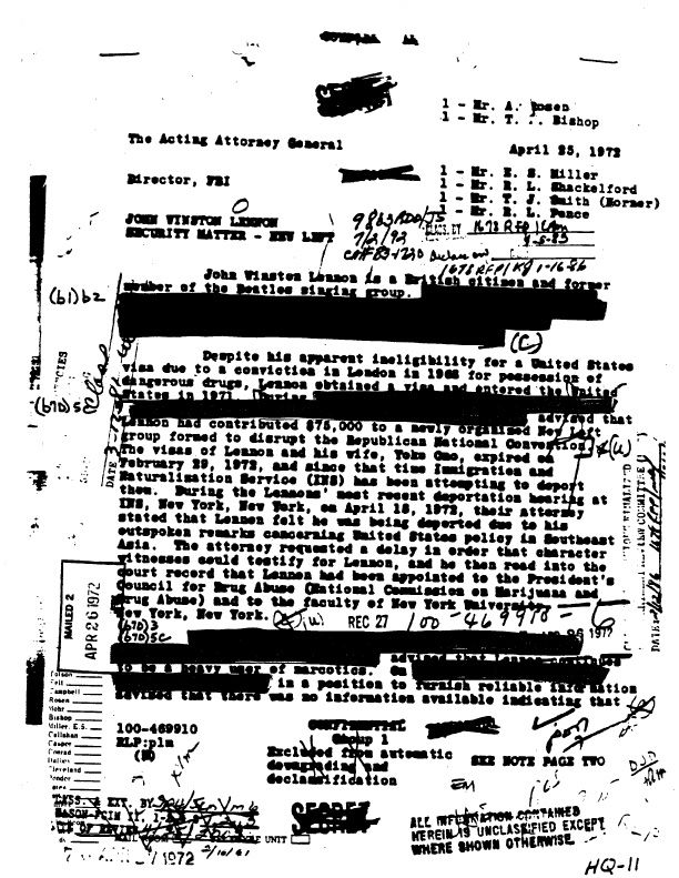 FBI papers relating to government activities to watched
