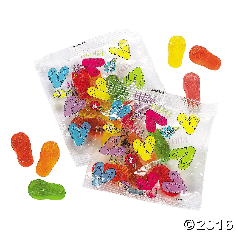 Gummy Flip Flop Treat Packets - OrientalTrading.com | William's ...