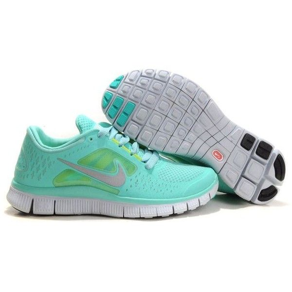new style 10477 9b38c Damen Nike Free Run 3 Blau Grau,XG207 ❤ liked on Polyvore featuring shoes