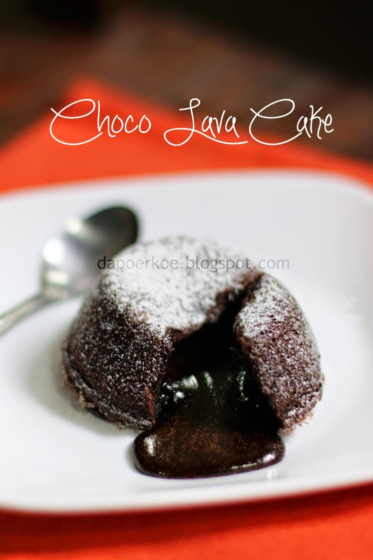 Dapoerkoe Choco Lava Cake Kue Camilan Resep Makanan Penutup Makanan