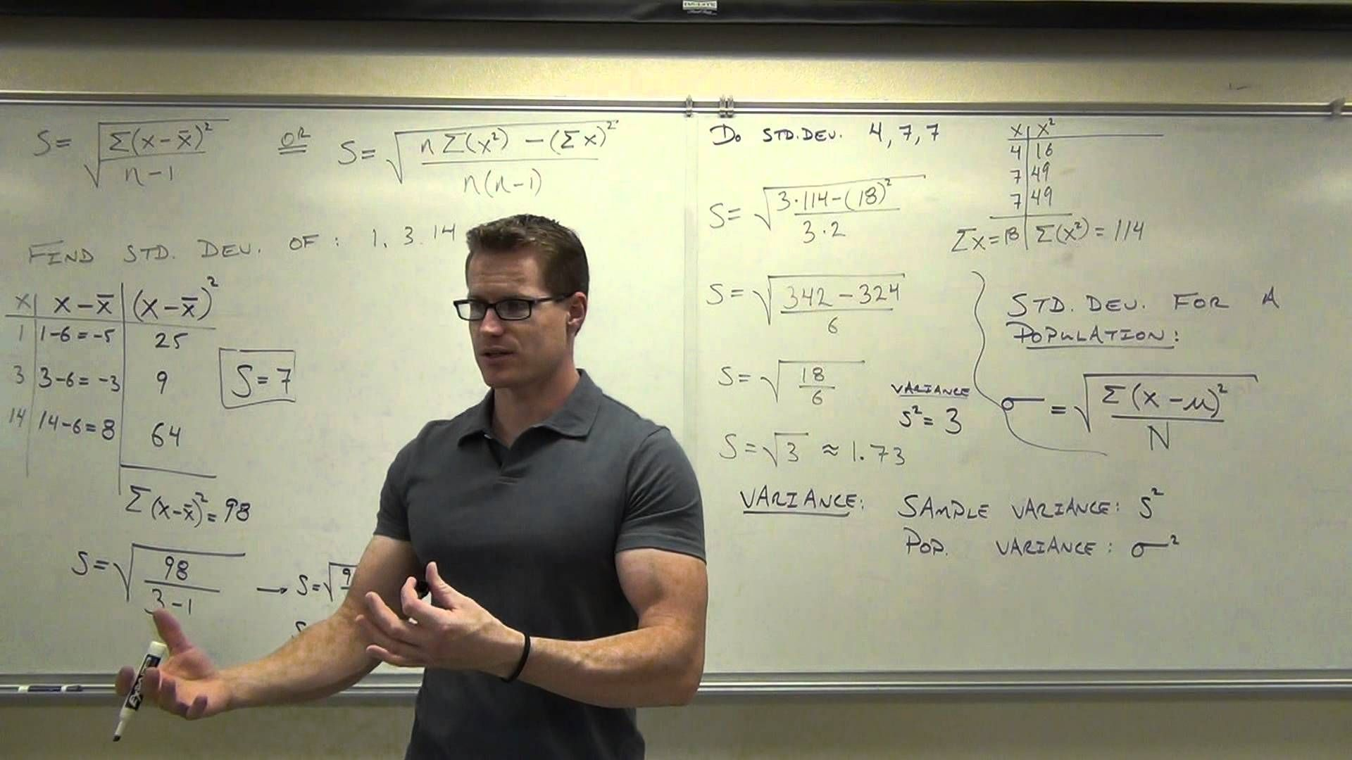 Statistics Lecture 3 3 Finding The Standard Deviation Of