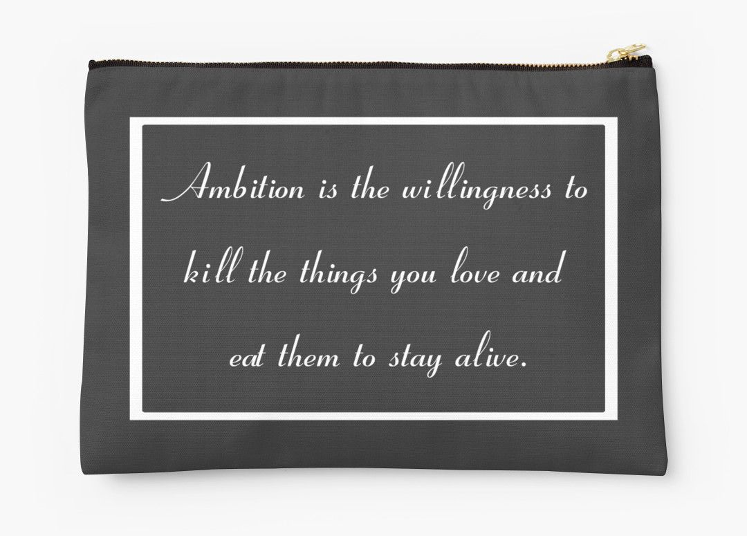 30 Rock Inspired Grey TV Show Jack Donaghy Quote Ambition (BEST TO BUY STICKER FROM THIS DESIGN) by CanisPicta