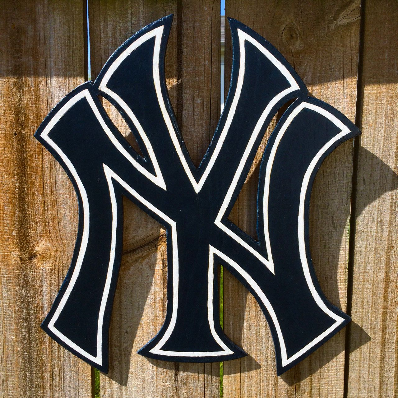 New York Yankees Wooden Wall Hanging Or Spinning Logo Wooden Wall Hangings Wall Hanging Wooden Walls