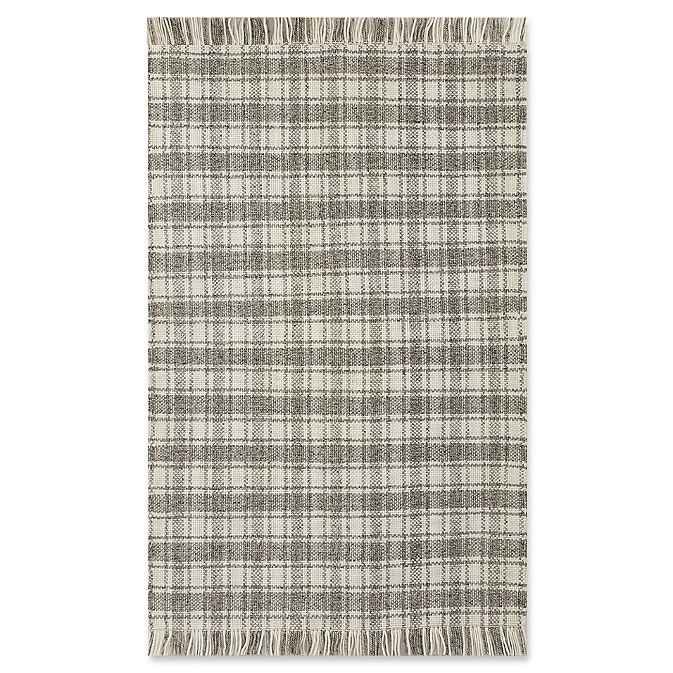 Bee Willow Home Camden Plaid 5 X 8 Area Rug In Grey Ivory Rugs Plaid Decor