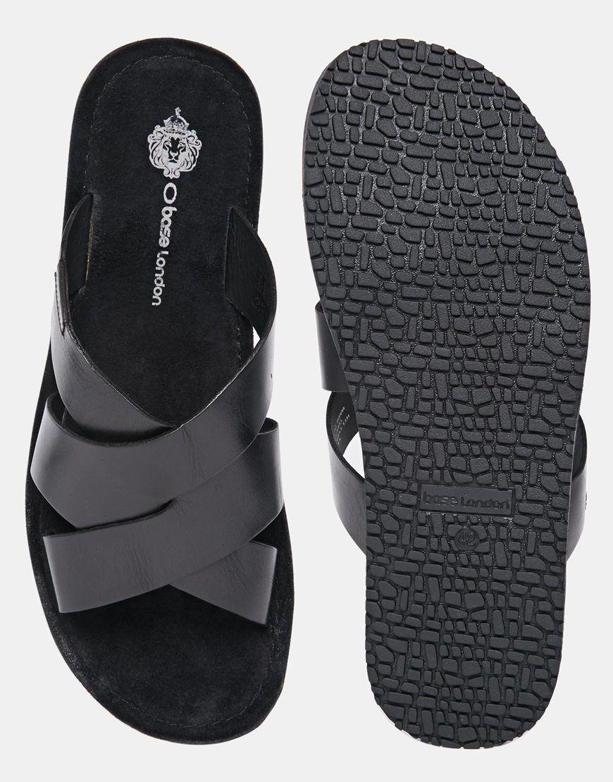 11353c5cd74c Image 3 of Base London Tiberius Leather Sandals