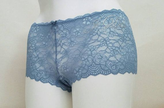 BLUE Lace Cheeky w/ Crystal I Do  Plus Size  by BluIntimates