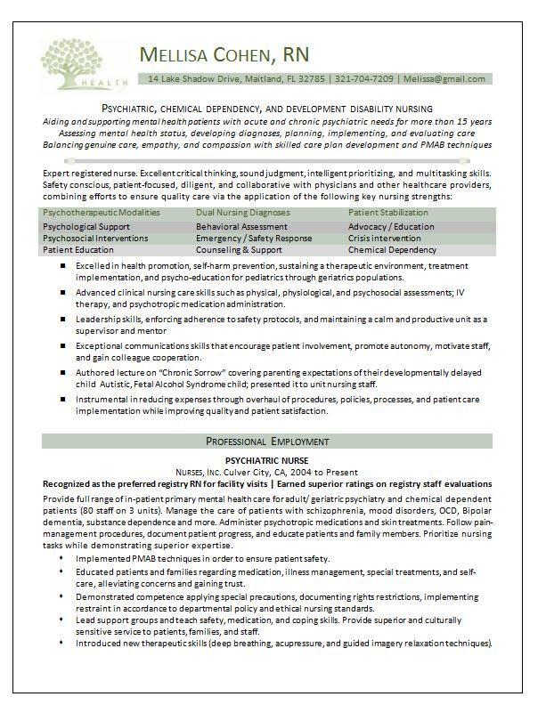 Nursing Resume Template Nurse Pinterest Sample resume, Nursing