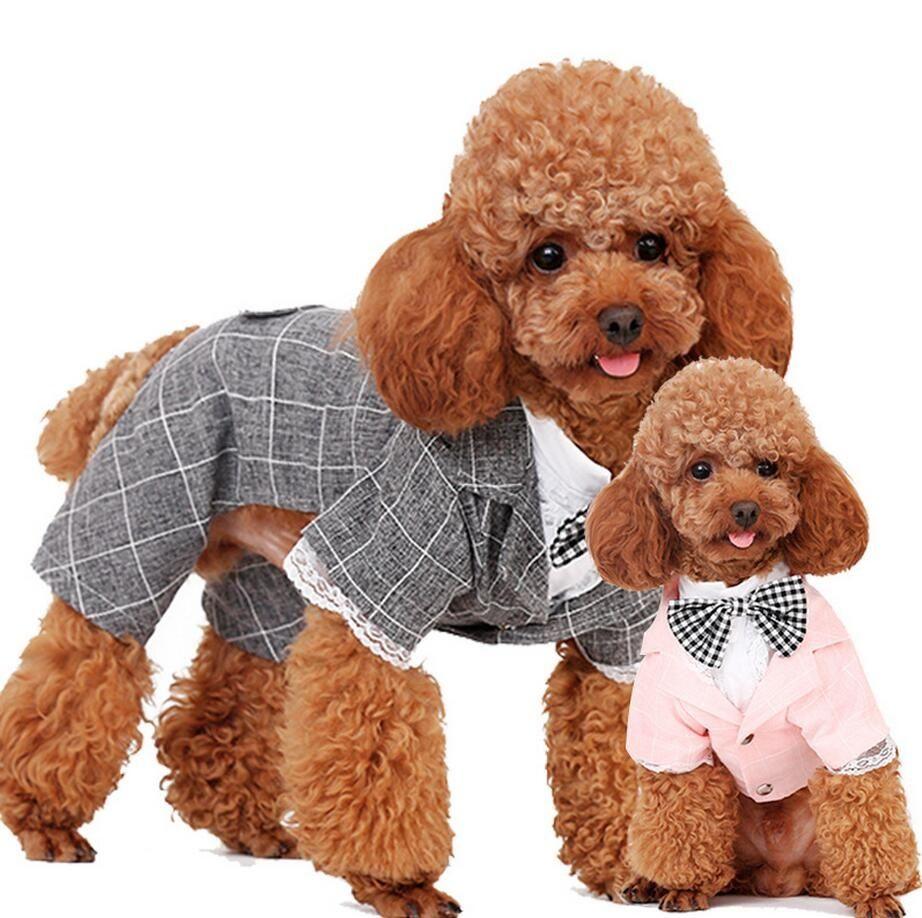 Gentleman Wedding Dress Suits Dog Groom Tuxedo Suit Pet Stylish