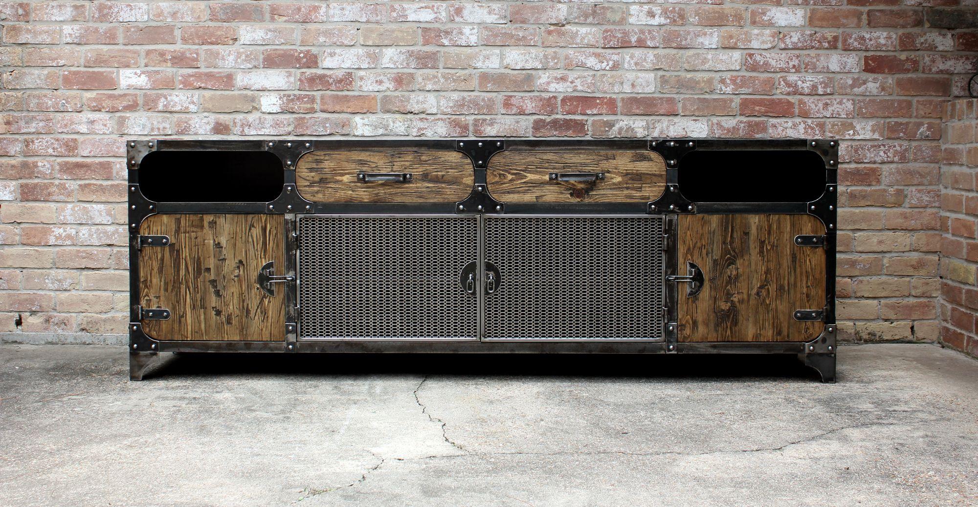Custom 8 ft freightbar todo de madera muebles for Muebles industriales metal baratos