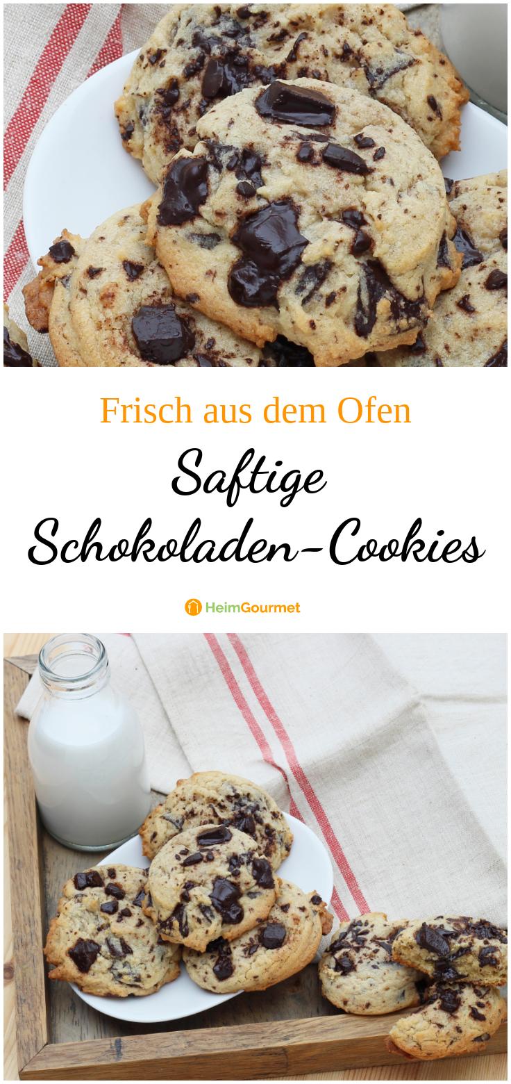 Frisch aus dem Ofen: saftige Schokoladen-Cookies