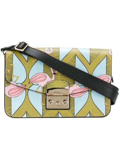 c847218ecfaf Shop Furla Flamingo print shoulder bag. | Purses and Shoes | Bags ...