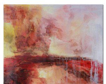 Grande arte tela pittura astratta arte della di TexturePainting
