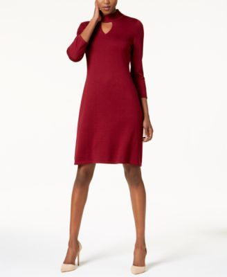 180cfa5acd8 Nine West Choker Sweater Dress