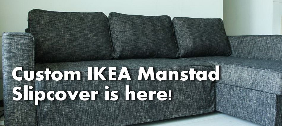 Manstad Sofa Bed Slipcover In Nomad