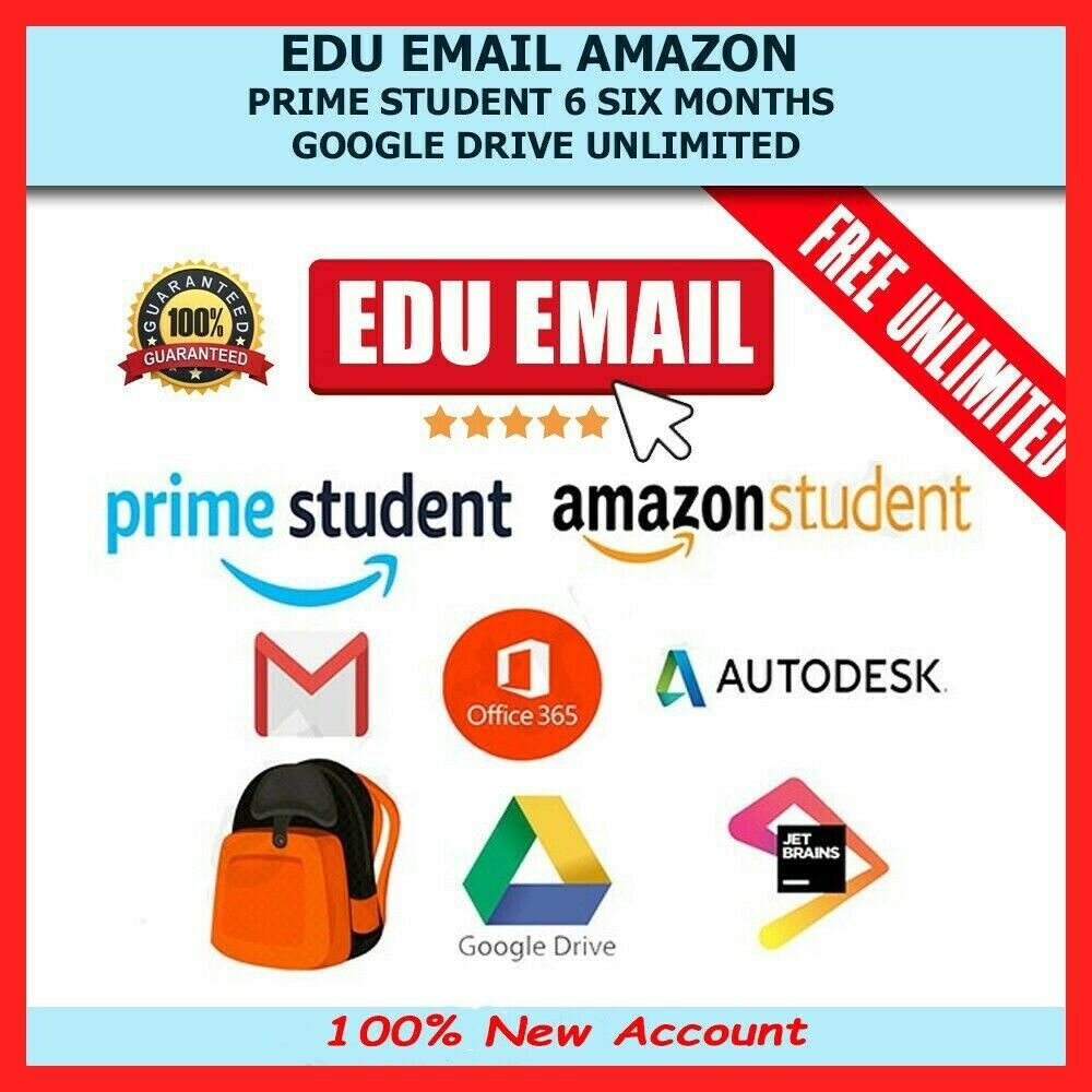 Edu Email Student Discount Free 6 Months Amazon Prime Google Drive
