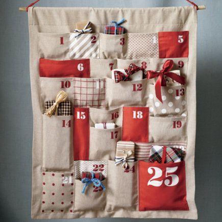 Gorgeous DIY Advent Calendar. Fun project!