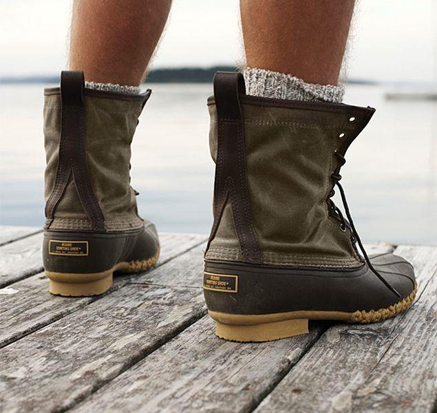 3430433d98a L.L.Bean Waxed Canvas Maine Hunting Shoe | styles | Ll bean boots ...