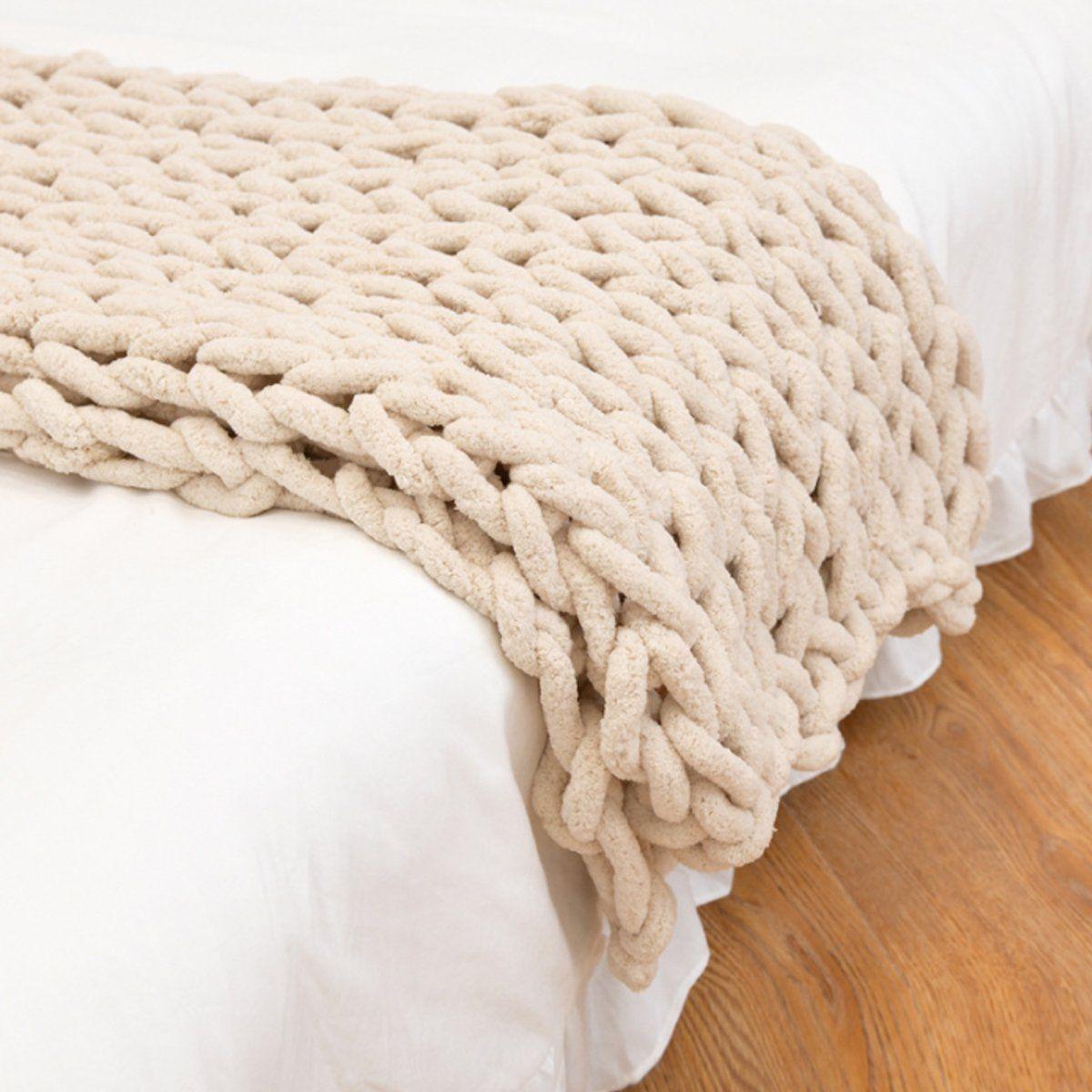 Washable Handwoven Bulky Skinfriendly Blanket Warm Soft