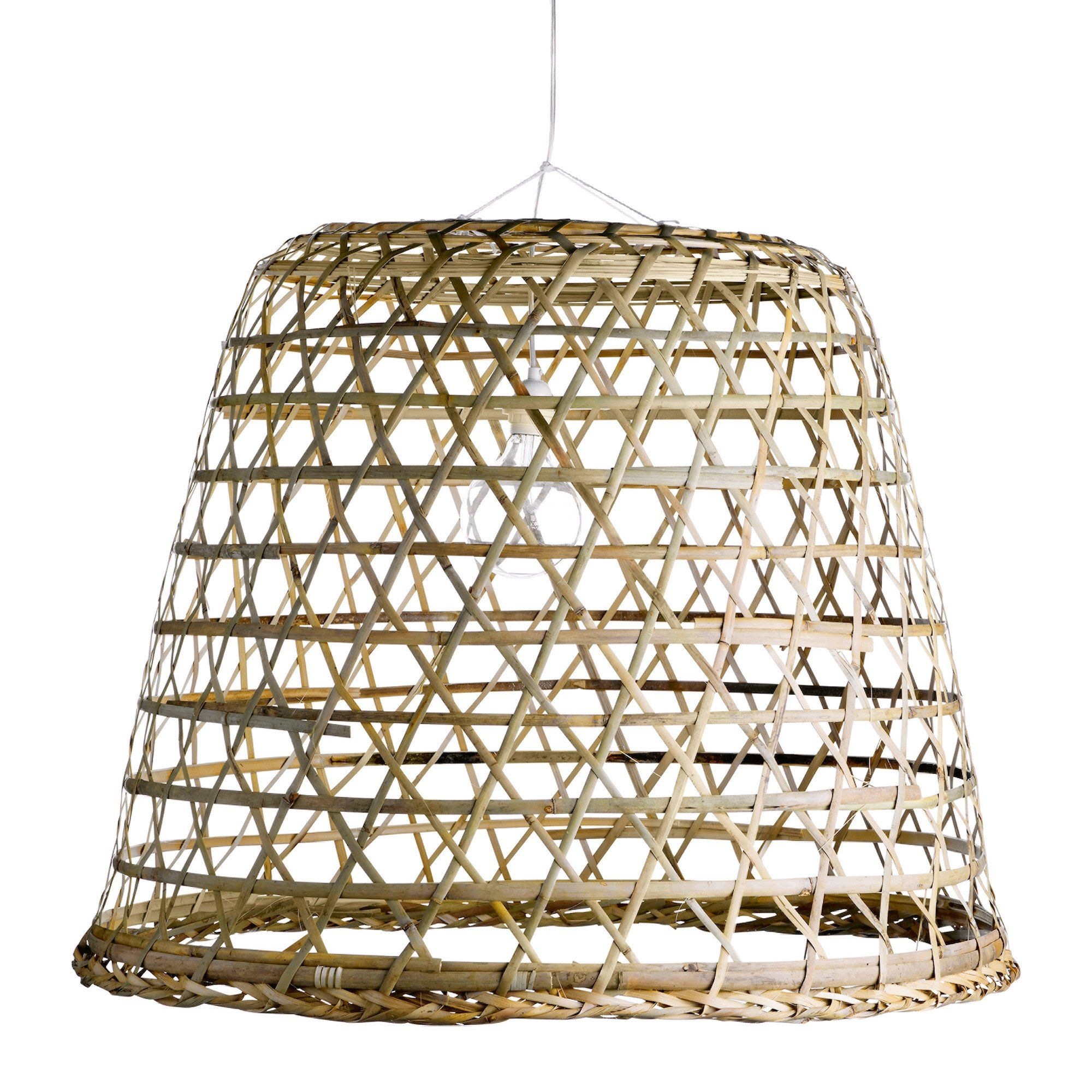 Woven Bamboo Hanging Basket Sika Design Usa Lamp Shade Woven Shades Rustic Lamp Shades