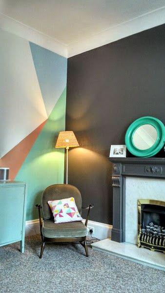 Pintar Paredes De Forma Creativa Decoracion De Pared Diy Decoracion De Interiores Pintura Interior Casa
