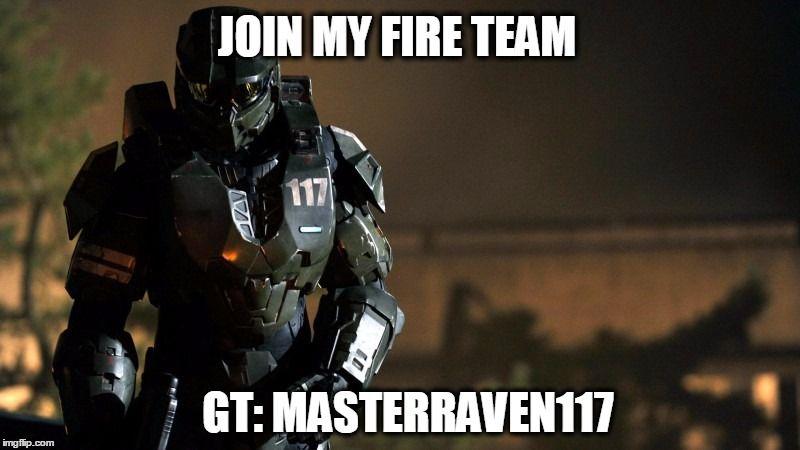Join me online! GT: MasterRaven117 #Fireteam #xboxlive #masterchief #John117 #Spartan #Halo #Guardians