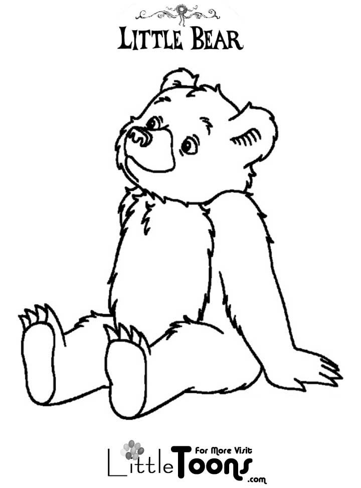 Littletoons Com Little Bear Printables Bear Coloring Pages