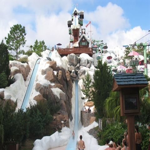 Disneys Blizzard Beach Florida Scary But Thrilling Water Slide