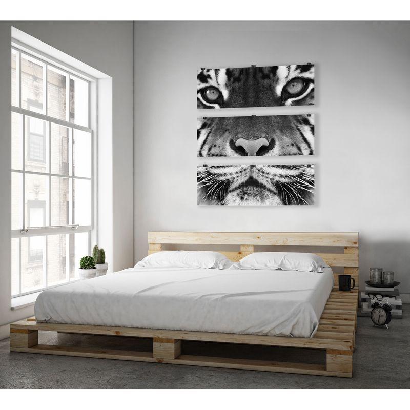toile d co d 39 un tigre en noir et blanc disponible chez cosygallery photos sur toile de. Black Bedroom Furniture Sets. Home Design Ideas