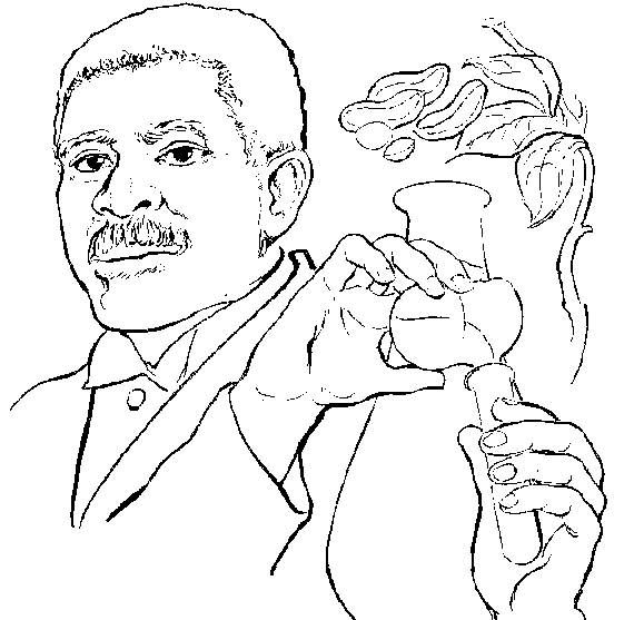 how to draw george washington carver | Black History Coloring Pages ...