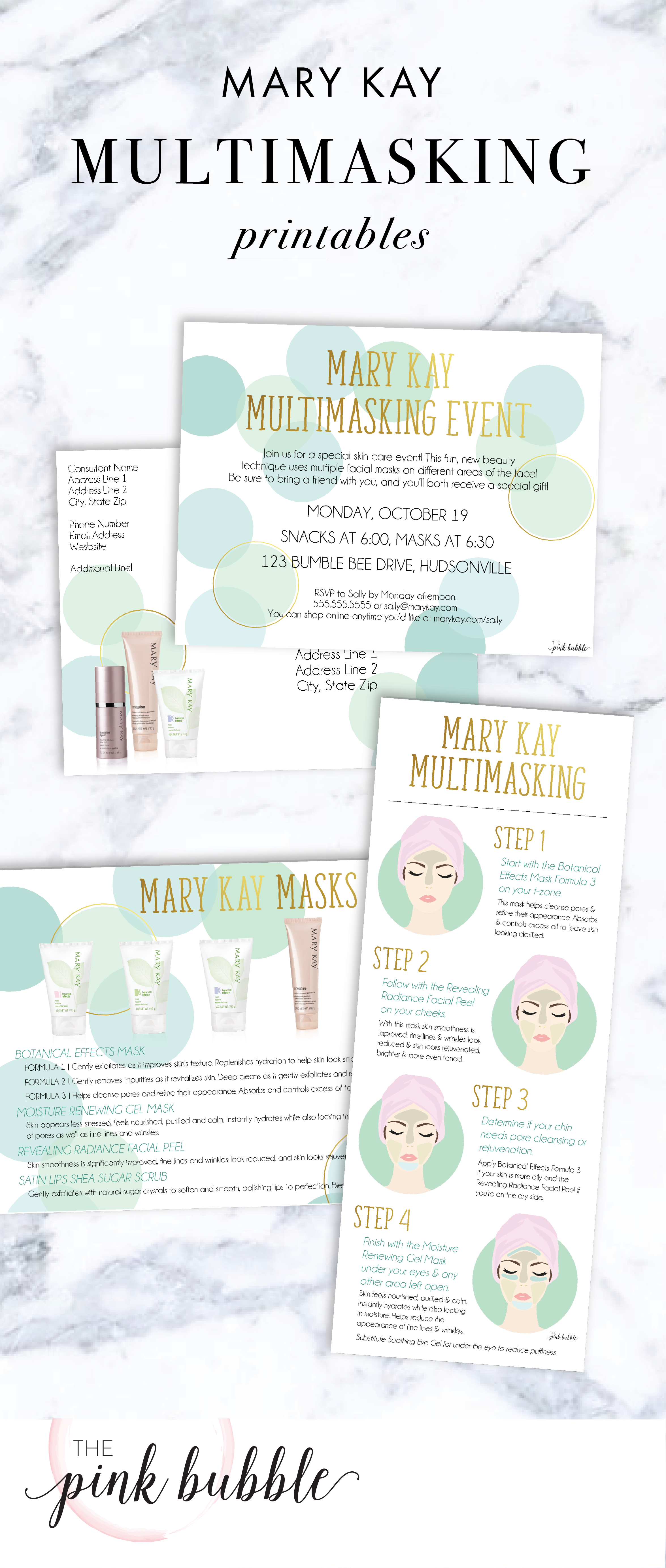 Mary Kay Multimasking Event Printables Find Them Only At