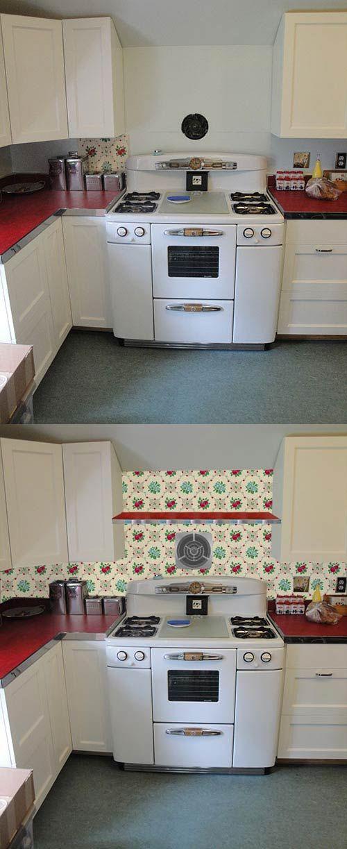 Wallpaper The Backsplash Deb Wants Our Help With Her Retro Design Dilemma Retro Design Retro Renovation Vintage Kitchen